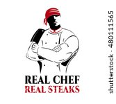 illustration for steak house | Shutterstock . vector #480111565