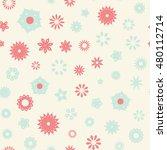 seamless floral pattern. vector ...   Shutterstock .eps vector #480112714