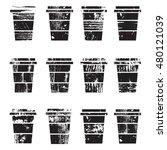 takeaway paper coffee cups....   Shutterstock .eps vector #480121039