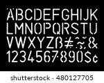 full grunge style stencil... | Shutterstock .eps vector #480127705