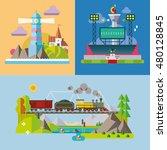modern flat design conceptual... | Shutterstock .eps vector #480128845