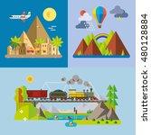 modern flat design conceptual... | Shutterstock .eps vector #480128884