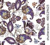 seamless oriental floral... | Shutterstock .eps vector #480129625
