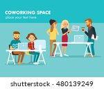 creative people working in co... | Shutterstock .eps vector #480139249