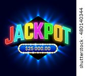 jackpot banner for casino games ... | Shutterstock .eps vector #480140344