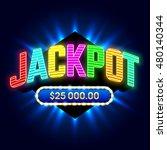 jackpot banner for casino games ... | Shutterstock .eps vector #480140344