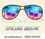 spring break on sunglasses... | Shutterstock . vector #480140404