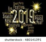 twenty nineteen numbers show... | Shutterstock . vector #480141391