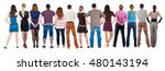 back view group of people ... | Shutterstock . vector #480143194
