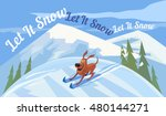 holiday wishes let it snow.... | Shutterstock .eps vector #480144271
