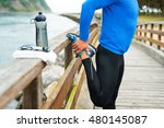 fit sports man doing stretches... | Shutterstock . vector #480145087