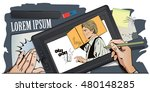 stock illustration. people in... | Shutterstock .eps vector #480148285