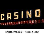 bright shiny casino neon lights   Shutterstock . vector #48015280