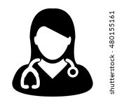 doctor icon   a medical... | Shutterstock .eps vector #480155161