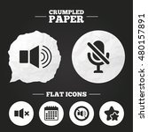 crumpled paper speech bubble.... | Shutterstock .eps vector #480157891