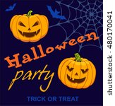 happy halloween party poster.... | Shutterstock .eps vector #480170041