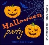 happy halloween party poster.... | Shutterstock .eps vector #480170041