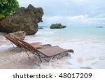 Two Beachbeds On The Seashore...