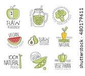 vegan 100 percent natural...   Shutterstock .eps vector #480179611