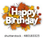 happy birthday background with...   Shutterstock .eps vector #480183325