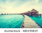 beautiful tropical maldives... | Shutterstock . vector #480190819