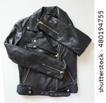 black leather jacket | Shutterstock . vector #480194755