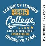 college new york  brooklyn... | Shutterstock .eps vector #480197491