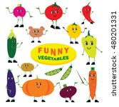 set of vector object. funny... | Shutterstock .eps vector #480201331