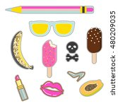 patches sticker set. vector pin ... | Shutterstock .eps vector #480209035