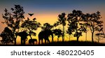 a forest landscape with trees... | Shutterstock .eps vector #480220405