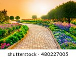 Garden Walk Way With Sunrise I...