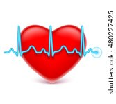 heart and blue heart rate | Shutterstock .eps vector #480227425