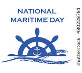 national maritime day with... | Shutterstock .eps vector #480228781