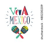 bright typographic  viva mexico ...   Shutterstock .eps vector #480230209