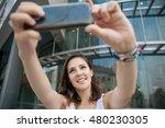young beautiful women making a... | Shutterstock . vector #480230305