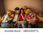 group of friends enjoying time... | Shutterstock . vector #480240571