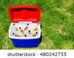 Picnic Cooler Box With Bottles...