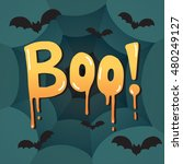 halloween message boo  text....   Shutterstock .eps vector #480249127