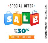 sale poster with percent...   Shutterstock .eps vector #480253621