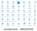 summer sports icons set ... | Shutterstock . vector #480255034