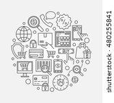 e commerce round illustration.... | Shutterstock .eps vector #480255841