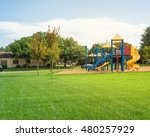 colorful children playground... | Shutterstock . vector #480257929