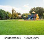 colorful children playground... | Shutterstock . vector #480258091