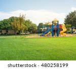 colorful children playground... | Shutterstock . vector #480258199