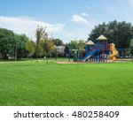 colorful children playground... | Shutterstock . vector #480258409