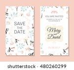 wedding set. romantic vector... | Shutterstock .eps vector #480260299