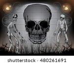 halloween  background  vector... | Shutterstock .eps vector #480261691