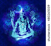 shiva   the transcendental... | Shutterstock .eps vector #480265039