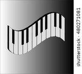 piano  three dimensional image | Shutterstock .eps vector #480271081