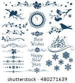 new year set. christmas...   Shutterstock .eps vector #480271639